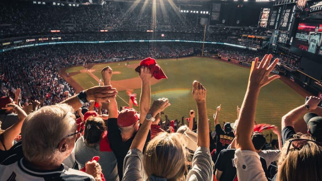 Sports crowd cheering