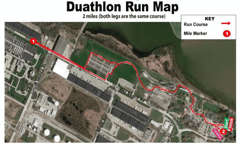 duathlon run map