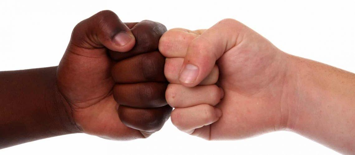 Multi Racial Fists